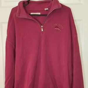 Tommy Bahama 1/2 Zip Sweater Size XL Magenta
